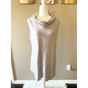 LA Threads Gray Mock Neck Midi Dress